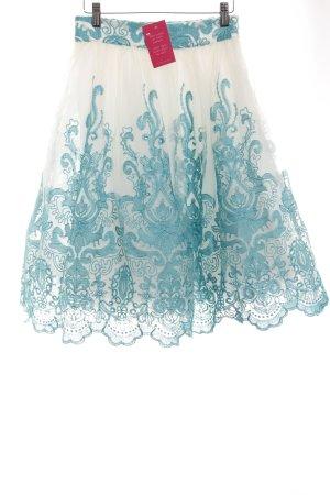 Chi Chi London Tüllrock wollweiß-kadettblau Romantik-Look