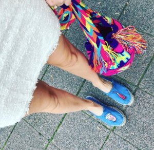 Lage schoenen korenblauw