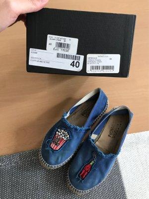 Chiara Ferragni Espas Espadrilles Schuhe Leinen Canvas