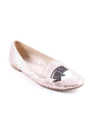 Chiara Ferragni Patent Leather Ballerinas pink extravagant style