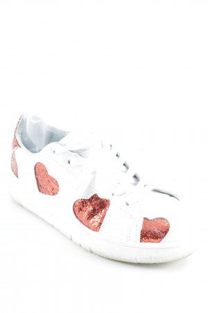"Chiara Ferragni Sneaker stringata ""Sneaker Big Red Hearts White"""