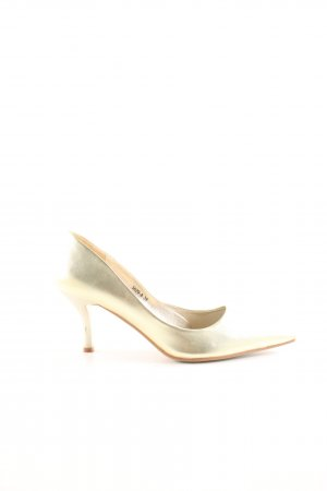 Chiara Spitz-Pumps goldfarben Casual-Look