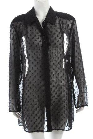 Chic Fabiani Transparenz-Bluse schwarz Eleganz-Look
