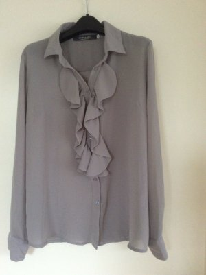 Made in Italy Ruffled Blouse silver-colored polyester