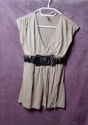 Chic – Shirt / Longtop mit Gürtel von Amisu - Sexy Größe: S-M (36-38)