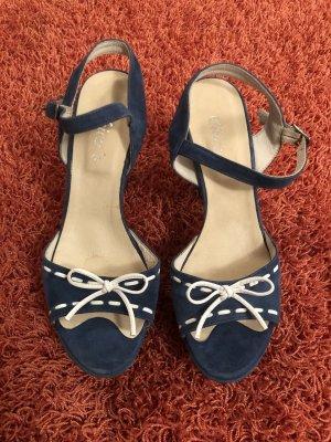 Chica's Sandalias de tacón con plataforma blanco-azul