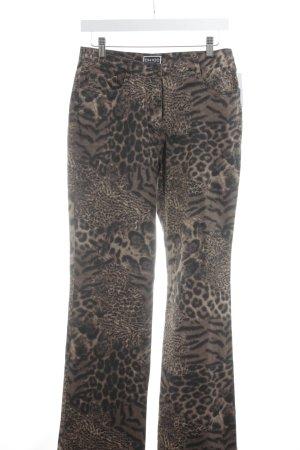 Chicc Jeans coupe-droite motif léopard style décontracté