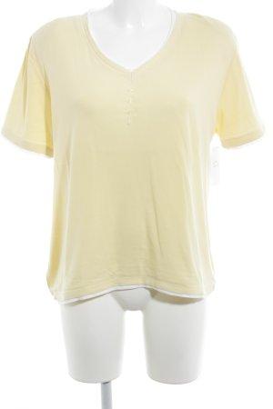 Chicc V-Ausschnitt-Shirt weiß-blassgelb