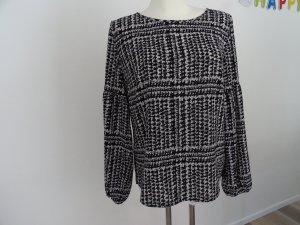 Betty & Co Long Sleeve Blouse black-white polyester