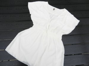 Chice Long-Bluse weiß-creme