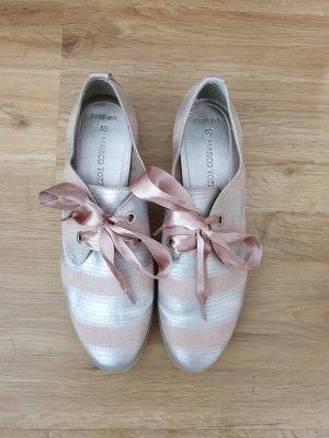 Marco Tozzi Chaussure Oxford argenté-vieux rose