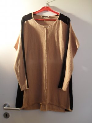 Chicer Pullover in camel/schwarz Long NP 169,--