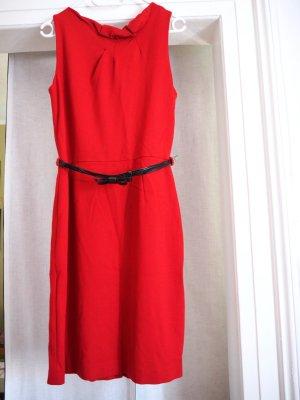 Chices Etuikleid mit Gürtel, rot, Mango Suits