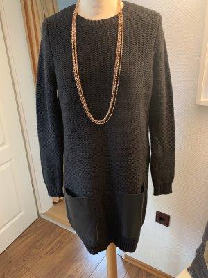 COS Robe à manches longues gris foncé-noir
