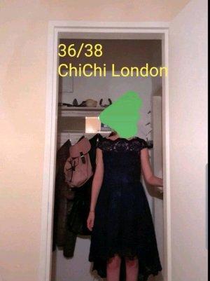 Chi Chi London Lace Dress dark blue