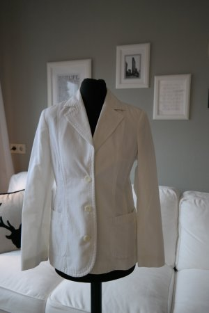 Chicker Long-Blazer in weiss