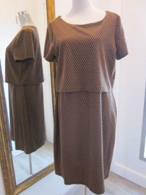 Chickes Retro Kleid Braun Schwarz Gr L