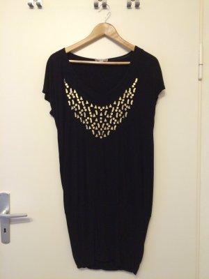 Chickes schwarzes Jerseykleid