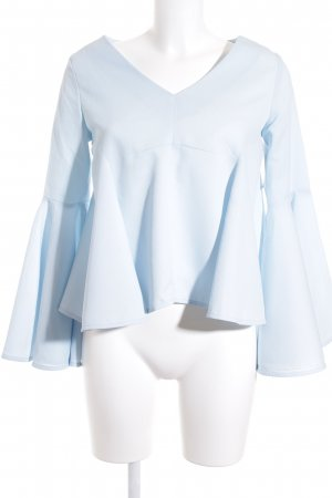 Chicwish Langarm-Bluse hellblau Romantik-Look