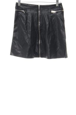 Chicwish Lederrock schwarz-silberfarben Elegant