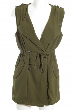 Chicwish Longstrickweste khaki Military-Look
