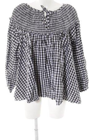 Chicwish Schlupf-Bluse Karomuster minimalistischer Stil