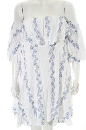 Chicwish schulterfreies Kleid florales Muster Romantik-Look