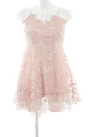 Chicwish Spitzenkleid rosé florales Muster Party-Look