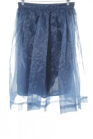 Chicwish Tule rok donkerblauw extravagante stijl