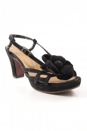 Chie Mihara Strapped High-Heeled Sandals black casual look