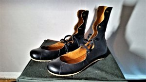 Romeinse sandalen zwart Leer