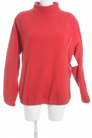 Chiemsee Pullover in pile rosso stile atletico