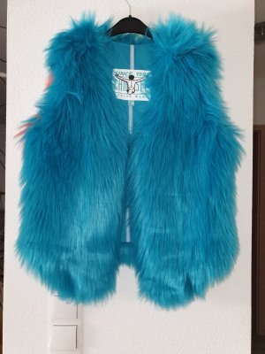 Chiemsee Fur vest multicolored fake fur
