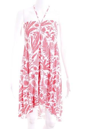 Chiemsee Abito con corpetto bianco-rosso chiaro Stampa a tema stile spiaggia