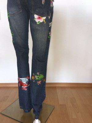 Chiemsee PlusMinus Patch Patch Patches - Jeans Gr.36 mit vielen Aufnähern Hippie Boho Blogger