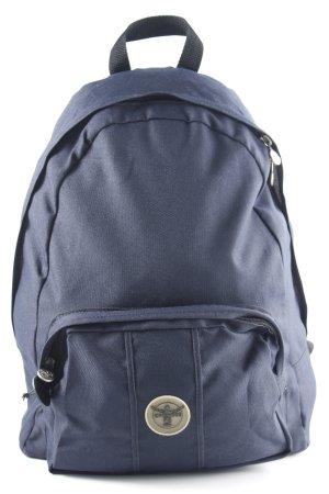 Chiemsee Zaino per la scuola blu scuro-nero stile da moda di strada