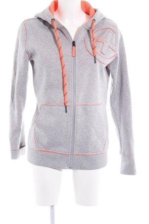 Chiemsee Giacca fitness grigio chiaro-rosso chiaro stile atletico