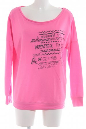 Chiemsee Sweatshirt magenta-taupe Mustermix Street-Fashion-Look
