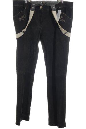 Chiemseer Dirndl & Tracht Pantalon bavarois brun foncé style campagnard