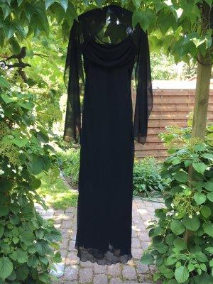 Chiffon Abendkleid schwarz, lang