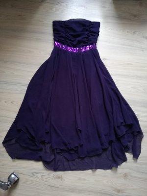 Robe bandeau brun pourpre-violet foncé