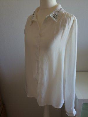 Chiffon Bluse 38 M Only neu beige Shirt