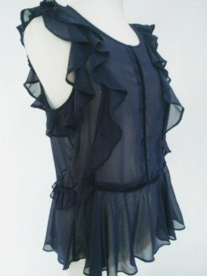 Chiffon Bluse dunkel blau