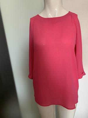 Chiffon Bluse Gr 36 38 S pink