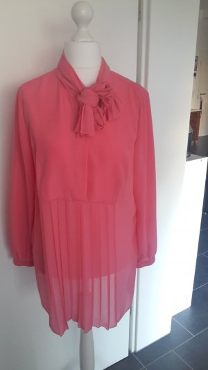Chiffon-Bluse in strahlendem Pink