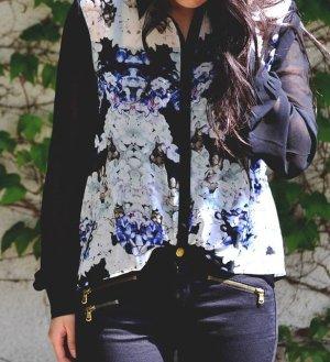 Chiffon Bluse mit Blumen-Print