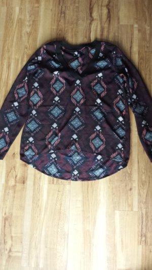 Chiffon Bluse Muster M 38/40