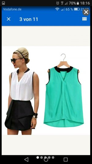 Chiffon Bluse Top in Türkis gr.S XS