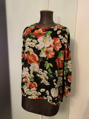 Chiffon Bluse Tunika Gr 38 40 M Blumen