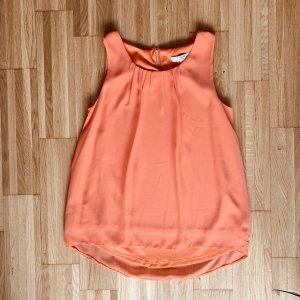 Chiffon Blusentop in schönem Orange